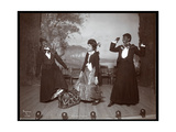 "A Scene from ""The Junior Show,"" an Amateur Production Presented by Underclassmen at Barnard… Giclee Print by  Byron Company"