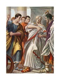 The Assassination of Julius Caesar Giclee Print by Tancredi Scarpelli