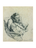 Portrait of J.M. Synge, 1905 Giclee Print by Harold Oakley