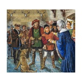 Elizabeth Woodville Finally Persuaded to Give Up Her Younger Son, Richard Giclee Print by Clive Uptton