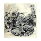 The Marines Assault on Belle Isle, Off Brittany, in 1761 Giclee Print by  English School