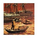 Opium Trade Giclee Print by  English School
