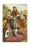 The King and Princess Visit the Marquis Giclee Print by  English School