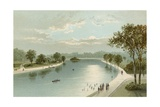 The Serpentine, from the Bridge Giclee Print by  English School