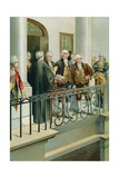 George Washington Taking the Oath as President Giclee Print by  North American
