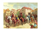 Chaucer's Pilgrims Giclee Print by Van Der Syde