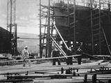 Women at Work in a Naval Ship-Building Yard, 1916 Photographic Print by  English Photographer
