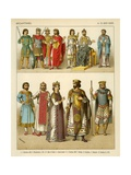 Byzantines Costume 800-1000 AD Giclee Print by Albert Kretschmer