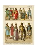 Byzantines Costume 800-1000 AD Giclee Print by Albert Kretschmer