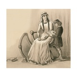 King Alfred and His Stepmother Giclee Print by  English School