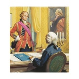 James Wolfe Being Appointed by the British Prime Minister, William Pitt Giclee Print by Severino Baraldi