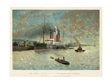 The Cunard Liner 'Campania' at the Landing Stage, Liverpool Giclee Print by Charles Wilkinson