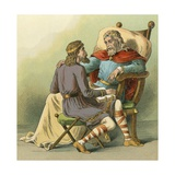 King Alfred Giving Advice to His Son Giclee Print by  English School