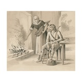 King Alfred and the Cakes Giclee Print by  English School