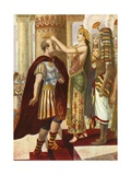 Cleopatra Welcoming Caesar Giclee Print by Tancredi Scarpelli