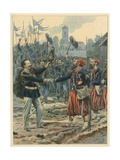 Italy - the Royal March Giclee Print by  JOB (Jacques Onfray de Breville)