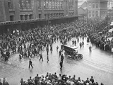 Arrival of Field Marshal John Denton Pinkstone French, 1st Earl of Ypres, in Gare Du Nord, Paris,… Photographic Print by Jacques Moreau