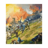 The Battle of Gettysburg Giclee Print by Severino Baraldi