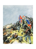 The Battlefield at Gettysburg Giclee Print by Leo Davy