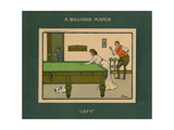 A Billiard Match - Left Giclee Print by Lance Thackeray