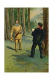 Theodore Roosevelt Summoned to the Bedside of the Dying President Giclee Print by  North American