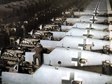 Assembly Line for the Messerschmitt Bf 109 in Augsburg, 1943 Photographic Print by  German photographer