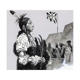 Pontiac Signed a Peace Treaty with the British Giclee Print by Gerry Embleton