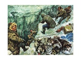 Roald Amundsen's Journey to the South Pole Giclee Print by Luis Arcas Brauner