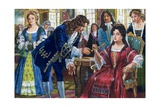 The Duke of Marlborough Finally Returns His Wife's Golden Keys Giclee Print by Clive Uptton