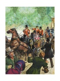 Assassination Attempt on Queen Victoria Giclee Print by Clive Uptton