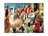 Gypsies Partying Giclee Print by  English School