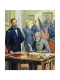General Ulysses Grant Accepting the Surrender of General Lee at Appomattox Giclee Print by Severino Baraldi