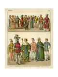 French Costume 1300 Giclee Print by Albert Kretschmer
