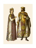 Byzantine Emperor and Empress Giclee Print by Albert Kretschmer