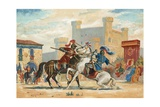 Tournament in the Middle Ages Giclee Print by  Spanish School