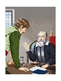 Galileo Showing How the Temperature of the Air Could Be Measured Giclee Print by John Keay
