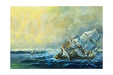The Vasa Sinks Giclee Print by  English School