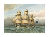 Battle Ship About 1760 Giclee Print by William Frederick Mitchell