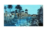 Life in the Nile Valley Giclee Print by Richard Hook