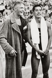 Erwin Sietas and Tetsuo Hamuro at the Berlin Olympics, 1936, Erwin Sietas ( Papier Photo