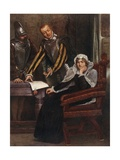 The Abdication at Lochleven Castle of Mary Stuart, Queen of Scots Giclee Print by Sir James Dromgole Linton