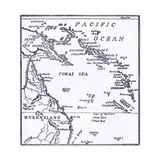 Map of Melanesia, 1908 Giclee Print