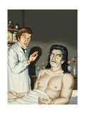 Frankenstein and Monster Giclee Print by John Keay