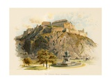 The Castle Rock, Edinburgh Giclee Print by Charles Wilkinson