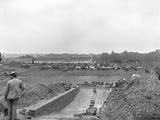 Longchamp Racecourse Transformed into a Cattle Enclosure, Paris, 1914 Photographic Print by Jacques Moreau
