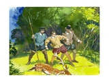 The Young Shakespeare Being Arrested for Poaching Giclee Print by Angus Mcbride
