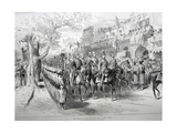 The Prince of Wales at Delhi: The Chandry Chowk, 1911 Giclee Print by  English School