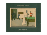 A Billiard Match - the Canon Giclee Print by Lance Thackeray