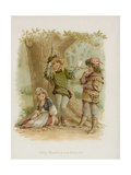 Celia, Rosalind and Orlando from Shakespeare's As You Like It Giclee Print by Frances Brundage
