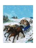 Richard Chancellor Is Taken to Meet Tsar Ivan by Sledge Giclee Print by Clive Uptton